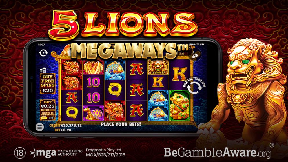 Pragmatic Play Reîncarcă Aventura Asiatică în 5 Lions Megaways